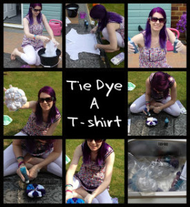 tie dye collage